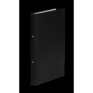Папка 2 кольца картон (A5) Donau d-20 мм 30 мм полипропилен покр черная (3718001-01)