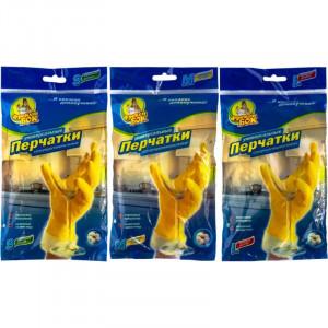 Перчатки латексные (универсальные) M-8 ФРЕКЕН БОК (для мытья посуды ЖЕЛТЫЕ)