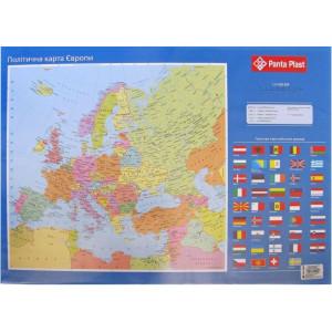 Подложка для письма (590 х 415 мм) Panta Plast PVC Карта Европы (0318-0037-99)