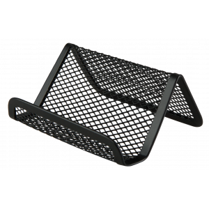 Подставка для визиток настольная 95 х 80 х 60 мм металл черная Buromax (BM.6225-01)