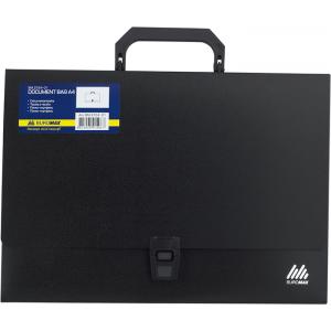 Портфель на застежке пластик 1 отд А4 BuroMax (BM.3724-01)