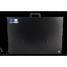 Портфель на застежке пластик 1 отд А2 Buromax черный (BM.3726-01)