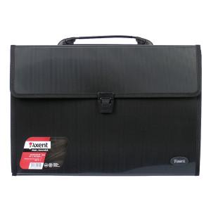 Портфель на застежке пластик 3 отд В4 Axent 385 х 280 х 35 мм черный (1602-01-A)