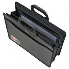 Портфель на молнии пластик 3 отд В4 Axent длинные ручки 395 х 385 х 28 мм черный (1603-01-A)