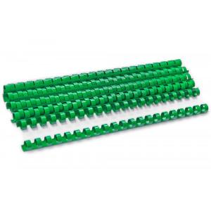 Пружина для биндера пластик 12 мм (до 100 л) 100 шт/уп (зеленая)