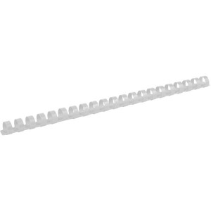 Пружина для биндера пластик 14 мм (до 120 л) 100 шт/уп (белая) AXENT