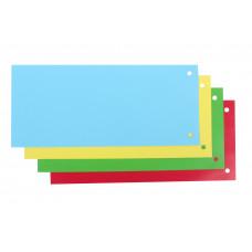 Разделитель страниц картон (цветной закладки) 105 х 240 мм Economix Радуга 100 шт (E30809)