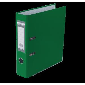 Регистратор 7 см А4 Buromax Lux 1стор покрыт, метал окант, зеленый (BM.3011-04c)