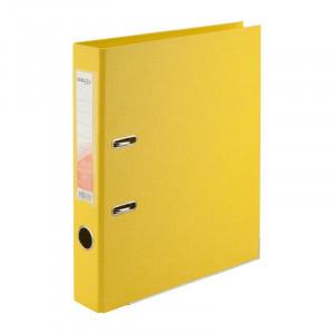 Регистратор 5 см А4 Axent 2стор покрыт, метал окант, желтый (D1711-08C)