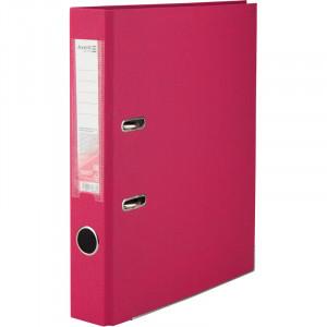 Регистратор 5 см А4 Axent 1стор покрыт, метал окант, розовый (D1713-05C)