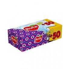 Салфетки 2слой 20 х 21 см РУТА в картон. прямоуг. боксе (100+50 шт)
