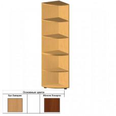 Сегмент приставной к стеллажу для документов радиусный БЮ509 (35х35х182,5) (светлый Бук)