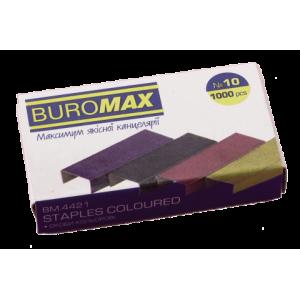 Скобы 10/5 1000 шт BuroMax цветные (BM.4421)