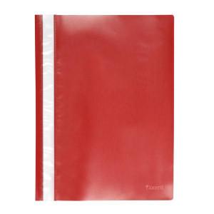 Скоросшиватель пластик. с прозр. верхом А4 (глянец) красный AXENT (1317-24-A)