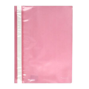 Скоросшиватель пластик. с прозр. верхом А4 (глянец) розовый AXENT (1317-23-A)
