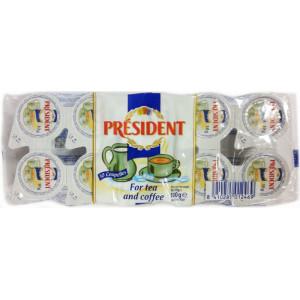 Сливки жидкие порционные President, 10%, (10 шт х 10 гр)