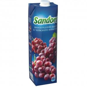 Сок Sandora, 950 мл, (виноград красный)
