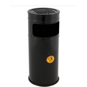 Урна-пепельница металлическая Мальборо-М, 10-15 литров (черная)