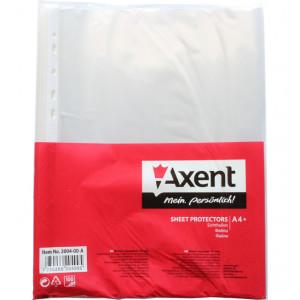 Файл глянцевый A4+ 40 мкм Axent вертик европерф (100 шт) (2004-00-A)