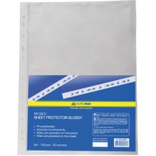 Файл глянцевый A4+ 30 мкм Buromax вертик европерф (100 шт) (BM.3800)