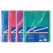 Файл глянцевый A4+ 40 мкм Buromax вертик европерф цветной (100 шт) (BM.3810-02)