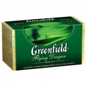 Чай зеленый в ф/п Greenfield Flying Dragon, 25 пакетиков