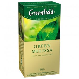 Чай зеленый в ф/п Greenfield Green Melissa, с мелиссой, 25 пак