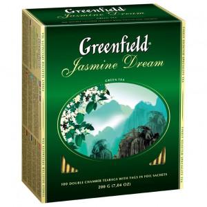 Чай зеленый в ф/п Greenfield Jasmin Dream, с жасмином, 100 пакетиков