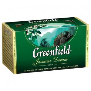 Чай зеленый в ф/п Greenfield Jasmin Dream, с жасмином, 25 пакетиков