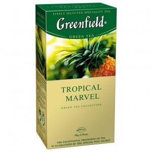 Чай зеленый в ф/п Greenfield Tropical Marvel, с ананасом и имбирём, 25 пакетиков