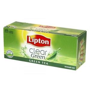 Чай зеленый в ф/п Lipton, 25 пакетиков