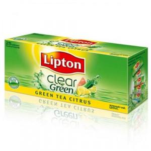 Чай зеленый в ф/п Lipton, с цитрусом, 25 пак