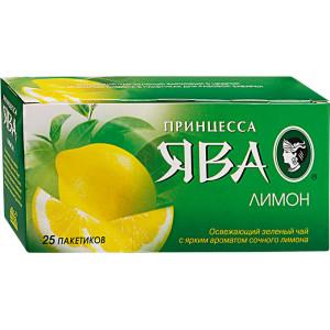 Чай зеленый в ф/п Принцесса Ява, с лимоном, 25 пак