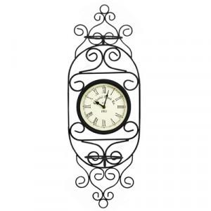 Часы Adam Garden, d-21 см, черные 051-15