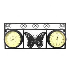 Часы Adam Garden, термометр, черные 078-20F