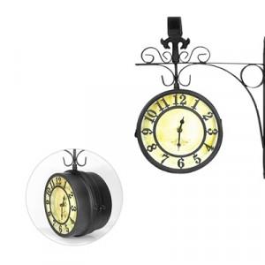 Часы двусторонние Adam Garden, d-15 см, черные 1110-15