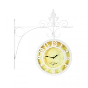 Часы двусторонние Adam Garden, d-20 см, белые 1110-20