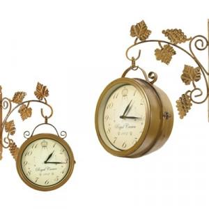 Часы двусторонние Adam Garden, d-20 см, коричневые 305-20