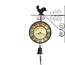 Часы двусторонние Adam Garden, d-20 см, черные К0801-20