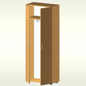 Шкаф гардеробный закрытый (700х347х1825) БЮ408 (бук бавария)