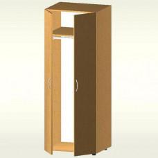 Шкаф гардеробный закрытый (700х550х1825) БЮ409 (яблоня локарно)