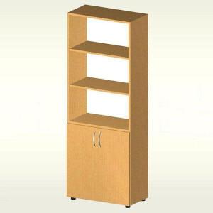 Шкаф для документов с дверцами из ДСП (700х347х1825) БЮ419 (яблоня локарно)