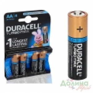Батарейка AA LR06 Duracell TURBO MAX MN1500 (пальчик) с индикатором заряда
