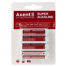 Батарейка AA LR06 Axent Alkaline Super (щелочная) (блистер 4 шт) (5556-A)
