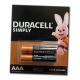 Батарейка AAA LR03 Duracell MN2400 (мизинчик)