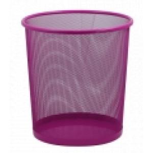 Корзина для мусора метал (решетчатая-круглая) розовая (ZB.3126-10)