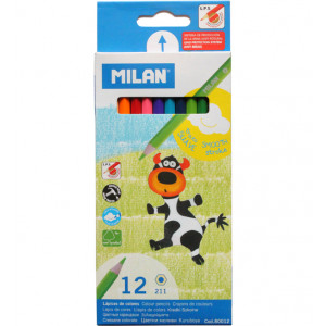 Карандаши цветные 12 цв х 12 шт Milan (ml.80012)
