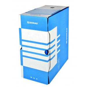 Бокс архивный картон 155 мм 300 х 340 мм Donau бело-синий (7663301PL-10)