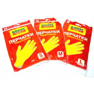 Перчатки латексные L-9 БОНУС (желтые) (17100314)