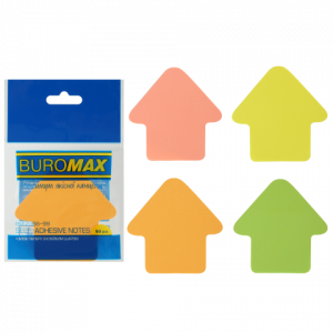 Блок стикеров 50 шт BuroMax неоновый, ассорти, фигурные стрела (BM.2366-99)